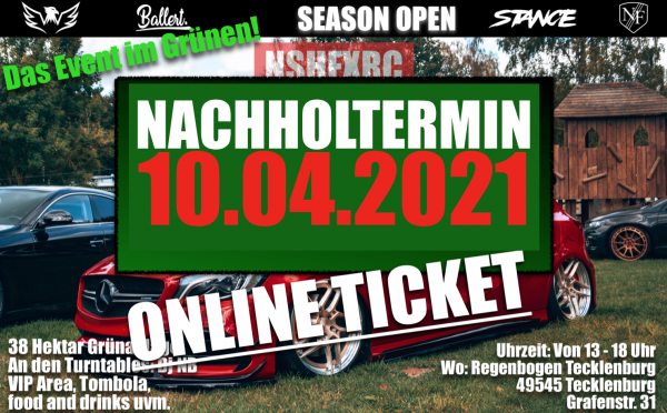 Visitorticket - 10.04.2022 - Season OPEN - Status low and chill