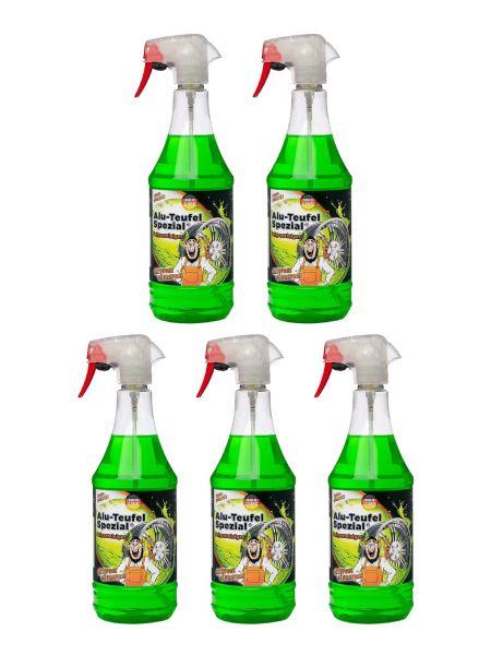 5x Alu-Teufel Spezial Felgenreiniger grün 1l